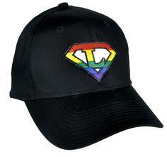 Rainbow Super L Pro Lesbian Hat Baseball Cap Alternative Gay Pride Clothing