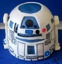 Star Wars R-2 D-2 sculpted 3-D Cake  Www.CustomDesignCatering.com