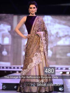 Kriti Sanon Silk Sequins Work Beige Semi Stitched Bollywood Style Lehenga - 480