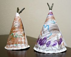 Teepee craft to go along with Native American studies or Thanksgiving activities