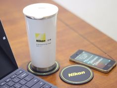 NIKON Travel Mug Tea Coffee Cup Thermos Bottle Stainless Steel