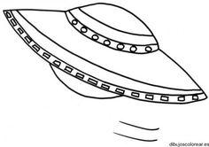 Dibujo de un platillo volador | Dibujos para Colorear