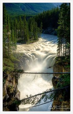 Sunwapta Falls, Jasper National Park, Alberta, Canada by wteresa Beautiful Waterfalls, Beautiful Landscapes, Places To Travel, Places To See, Beautiful World, Beautiful Places, Beautiful Pictures, Places Around The World, Around The Worlds