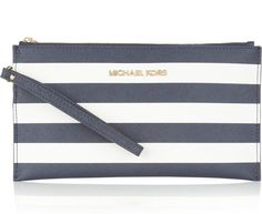 Michael Kors Striped Wristlet. Summer essentials.
