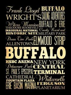 f9c5469f02 Buffalo New York Typography Art Poster   Bus   by LegacyHouseArt