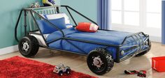 Twin Car Bed, Race Car Bed, Car Bed Frame, Kids Bedroom, Bedroom Decor, Bed Parts, Futon Bunk Bed, Bedroom Furniture For Sale, Metal Beds