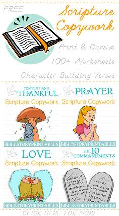 Free Bible Copywork Sheets