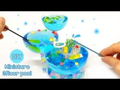 Barbie House Furniture, Mini Pool, Craft Videos, Minis, Swimming Pools, Tutorials, Flooring, Crafts, Animals