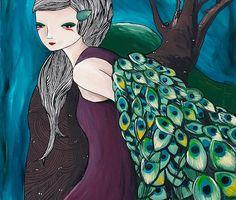 Peacock girl by Ali J Western Australia, Character Inspiration, Disney Characters, Fictional Characters, Disney Princess, Peacock, Illustration, Artist, Artwork