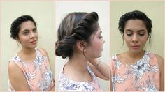 No Heat 5 Minute Updo- Summer Hair Style