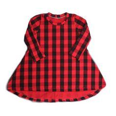 >> Click to Buy << Kids Baby Girls Toddler red Tartan Plaid Cotton Princess Tutu dress O-neck Long Sleeve Irregular Party Casual Dress 0-5Yrs #Affiliate