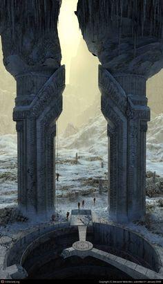 Setting idea - CGTalk - Gate in an empire Aid. Expedition. , Alexandr Melentiev (3D)