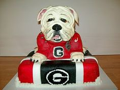 GA Bulldogs this would be a excellent .. cake for ashley and jakes birthday or a grooms cake for our wedding