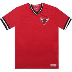 Mitchell and Ness Chicago Bulls Hook Shot red V-neck Tshirt