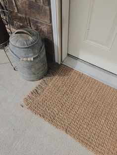 Free Crochet Pattern for a Texture Jute Rug Doormat - Megmade with Love