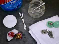 How to Clean Costume Jewelry >>http://blog.diynetwork.com/maderemade/2013/04/21/how-to-find-and-care-for-vintage-costume-jewelry/?soc=pinterest