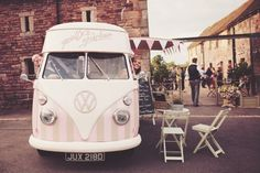 Florence our beautiful VW ice~cream van ~ available for wedding hire ♡ http://www.pollys-parlour.co.uk