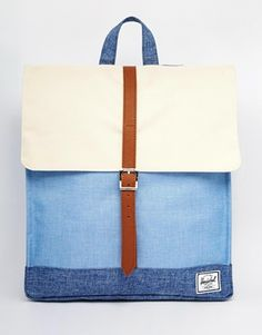 Herschel Supply Co City – Rucksack mit Blockstreifen in Chambray