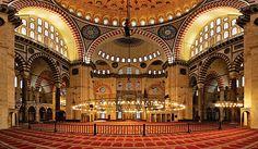 blue mosque interior istanbul turkey