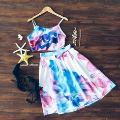 Floral Print Cami Top Matching Set | You can find this at => http://feedproxy.google.com/~r/amazingoutfits/~3/kxz2yOSxpf4/photo.php