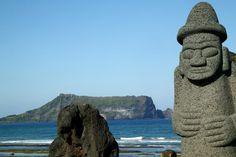 Stone Grandfather, Sinyang Beach, Tol-Harubang. ~ S. Korea