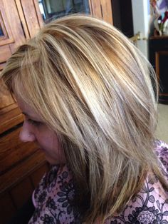 3 color blonde and brown hair foil