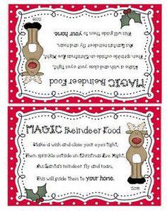 Magic Reindeer Food Recipe And Printable Christmas Ideas