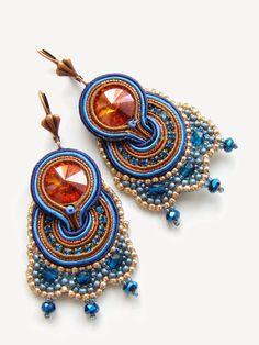 biZSUterie: Soutache earrings with brick stitch
