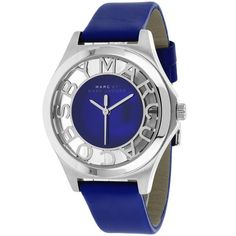 Henry Blue Dial Blue Leather Ladies Watch