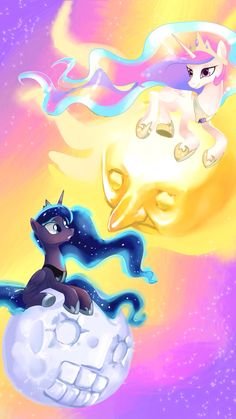 ThePonyArtCollection: Celestia and Luna Princesa Celestia, Celestia And Luna, Scooby Doo Mystery Incorporated, My Little Pony Wallpaper, Little Poni, Mlp Fan Art, Pony Drawing, Mlp Pony, Princess Luna