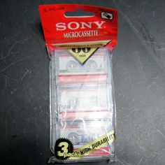 Sony Microcassette Tapes 3-pack 60 Minutes Each 3MC-60B New Sealed  #Sony