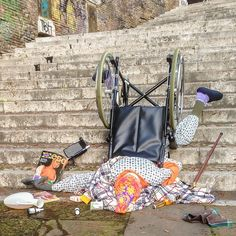 Hilarious Photos Of People Who've Fallen Down Among All Their Belongings.