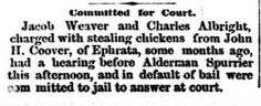 Genealogical Gems: On This Day: Chicken thieves sent to jail