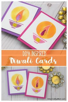Rangoli Inspired Diwali Cards to Make at Home Recreate your Childhood Diwali Memories with these colorful Diya Inspired Diwali Cards that kids can Make at Home Diwali Activities, Creative Activities For Kids, Creative Arts And Crafts, Kids Learning Activities, Craft Projects For Kids, Fun Crafts, Craft Ideas, Card Crafts, Diwali Cards