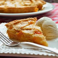 """Chef John's Peach Pie   """"Above and beyond beautiful, this lattice design is also very practical. When you're making pie with something like peaches, the relatively open top allows for lots of moisture to evaporate, which helps prevent the dreaded 'watery-pie syndrome.' That's also the reason we boil the excess juices down to a syrup."""" #summerrecipes #summerdishes #recipes"""