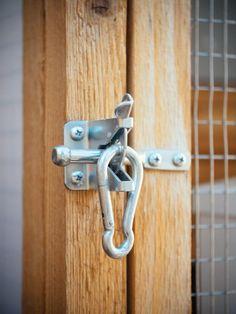 Gate latch secured w