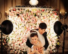 I like the background designed to display flowers for photographs.  Fantasy photos for Chinese weddings – CNN Photos -