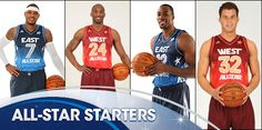 Familiar faces highlight the starters for the 2012 NBA All-Star Game in Orlando.