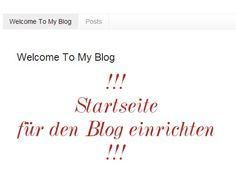 Copy Paste Love: Eine Startseite für den Blog ♥♥♥♥