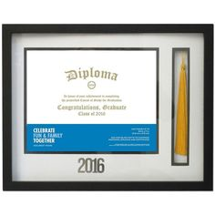 Celebrate Together 8.5'' x 11'' Diploma & Tassle Frame () ($35) ❤ liked on Polyvore featuring home, home decor and frames