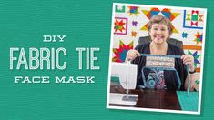 DIY Fabric Tie Face Mask with Jenny Doan of Missouri Star Quilt Company - YouTube