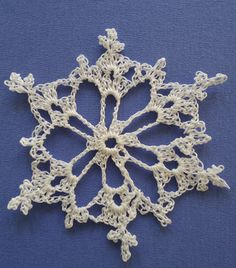 Frosted Lace Crochet Star by https://www.etsy.com/shop/QuirkyMamaStyle