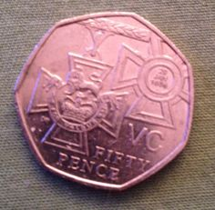 RARE BRITISH 2006 50p (fifty pence) coin VC Victoria Cross