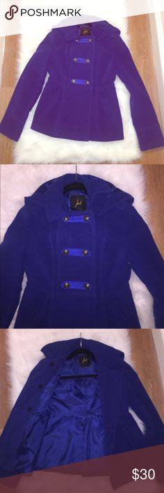 Beautiful Blue Peacoat - Read Description Royal blue peacoat💎 Has some damage inside the armpit is torn on both sides, refer to last to photo. Other than that it's in great condition and makes for a wonderful addition to your fall wardrobe! 💞 Jackets & Coats Pea Coats