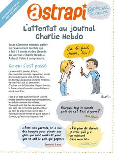 Astrapi, L'attentat au Charlie Hebdo 1 Satire, Charlie Hebdo, Magazines For Kids, Teaching French, Journal, How To Plan, My Love, Adolescents, Extension