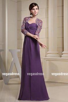 Free shipping light purple simple chiffon lace by vegasdress, $156.99