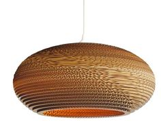 Corrugated Cardboard Scrap Lamp by Graypants