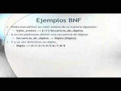 La notación BNF.