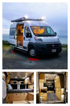 Want to buy a custom van conversion rather than diy your own camper van? Check out these two companies that are building Dodge Ram Promaster camper vans. Custom Camper Vans, Custom Campers, Custom Vans, Dodge Camper Van, Dodge Van, Van Conversion Interior, Camper Van Conversion Diy, Ducato Camper, Fiat Ducato