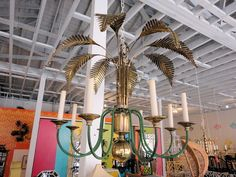 Brass PALM TREE Chandelier for Emily :)